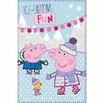 Peppa Pig 'Oink Voyage Couverture Rotary Fleece Throw Brand New cadeau Maison