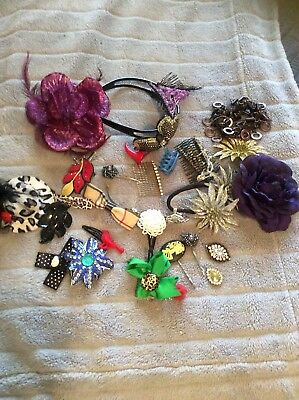 Bulk Lot Hair Mixed Vintage And Modern Accesories