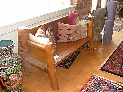 Antique Temple Bench, elmwood, driftwood, Shandong province, #1