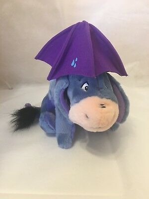 "Disney Eeyore With Umbrella Soft Plush 8""toy"
