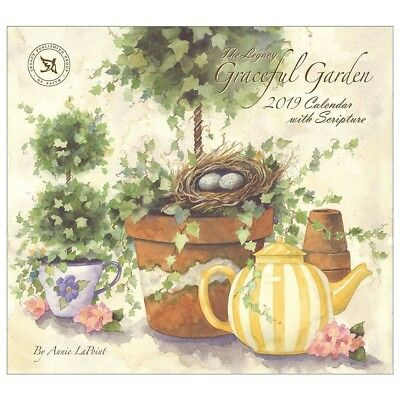 NEW Graceful Garden Annie Lapoint 2019 Legacy Wall Calendar With Scripture