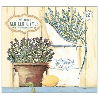 NEW Gentler Thymes Jo Moulton 2019 Legacy Wall Calendar Packed Well Free Postage