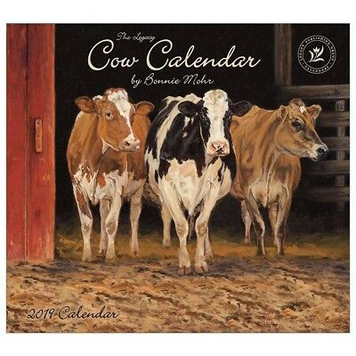 NEW Cows Bonnie Mohr 2019 Legacy Wall Calendar Packed Well Free Postage