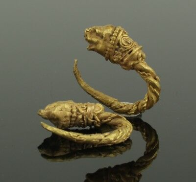 FABULOUS ANCIENT GREEK GOLD EARRINGS - 4th-1st Century BC 0110