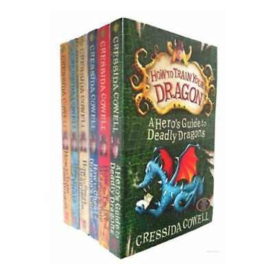 How to Train Your Dragon Cressida Cowell Series 6 Book Collection Set Pack NEW