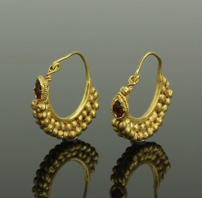 FABULOUS ANCIENT ROMAN GOLD EARRINGS - CIRCA - 2nd Century AD 006