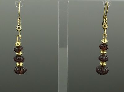 ANCIENT ROMAN GOLD & RUBY EARRINGS - CIRCA - 2nd Century AD