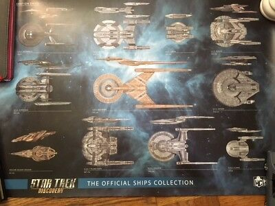 Star Trek: Discovery Ship Size Comparison Posters (2) by Eaglemoss