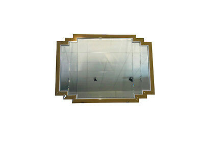 Large Art Deco Design Mirror - Gold and Silver Frame