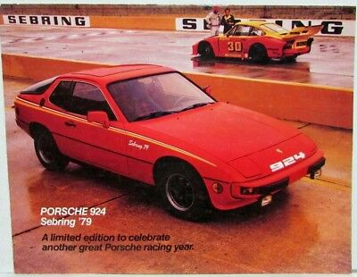 1979 Porsche 924 Sebring Limited Edition Sales Folder - Official Pace Car