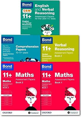 Bond 11+ plus Assessment Papers English Maths Verbal Reason 10-11 Year 5 PB NEW