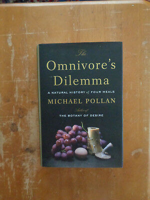 The Omnivore's Dilemma : A Natural History of Four Meals by Michael Pollan HCDJ