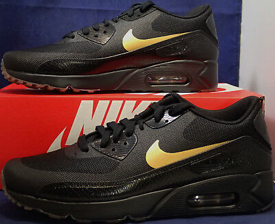 Nike Air Max 90 Ultra 2.0 Essential Herren Schwarz Gold 875695 016