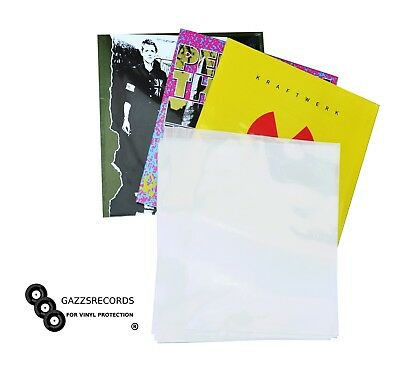 """25 x 12"""" Inch Album Record Sleeves LP Outer Covers 520g Gauge VINYL PROTECTORS"""