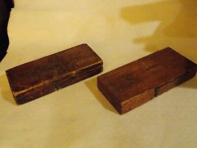 2-Vintage Wooden Sewing Parts Boxes....