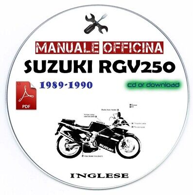 Manuale Officina Suzuki RGV 250 1990-1996 Workshop Manual Service Repair