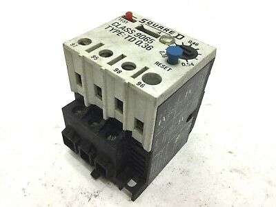 Square D TD0,36 Overload Relay, Contacts: 240-600VAC, Amperage Range: 0.36-0.54A