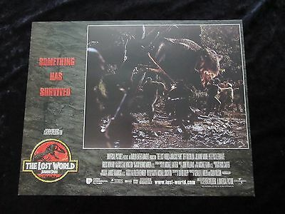 JURASSIC PARK lobby card # 2 - LOST WORLD, JEFF GOLDBLUM, JULIANNE MOORE,