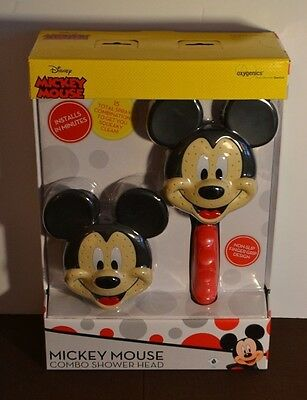 NEW! DISNEY Mickey Mouse Combo Shower Head (Handheld/Fixed) OXIGENICS 79368 NIB