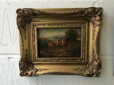 Small Oil In A Gilt Frame.