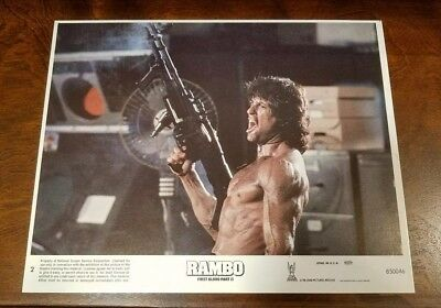 Rambo First Blood Part II lobby card - Sylvester Stallone