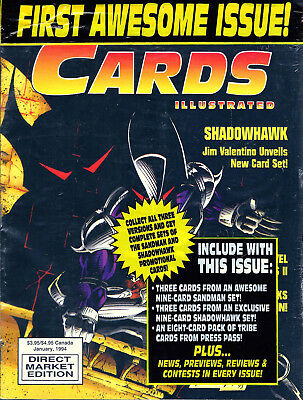Cards Illustrated Magazine First Issue #1 SHADOWHAWK  W/ Trading Cards & More!