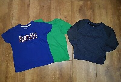 Boys clothes bundle age 2-3 years jumper t-shirt Primark and Next