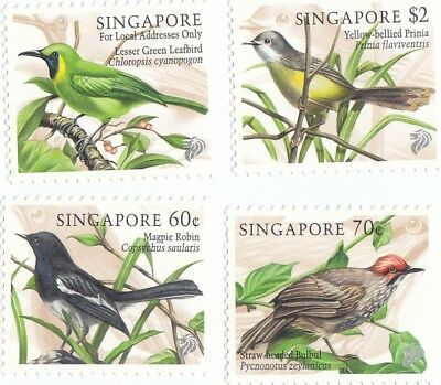 "Singapore, 1997, ""birds Of Singapore"" Stamp Set Mint Nh Fresh Good Condition"
