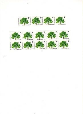 "Singapore, 1993, ""singapore Palm Trees"" 14 Stamps Mint Nh Fresh Good Condition"
