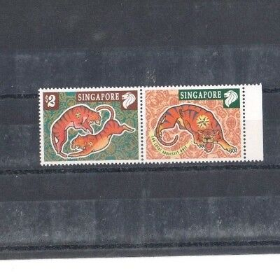 "Singapore, 1998, ""year Of Tiger"" Stamp Set Mint Nh Fresh Good Condition"