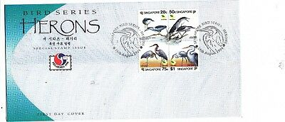 "Singapore, 1994, ""herons - Bird"" Stamp Set On Gpo Fdc Fresh Good Condition"