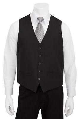 Chef Works Men's Basic Polyester Vest Black X-Small New