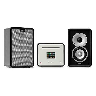 Chaine stereo Set HiFi complet Enceintes + ampli Fonction Multiroom -caches gris