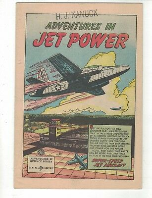 Adventures In Jet Power-1950 General Electric Comic Giveaway-Vg+
