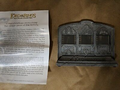The Lord of the Rings Film Frame Collectible Sideshow / Weta New In Box