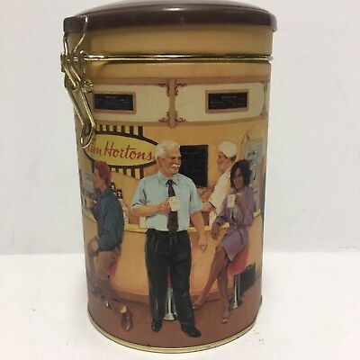 """#1 TIM HORTONS Limited Edition Coffee TIN CANISTER """"Gathering Place"""" Vintage CAN"""