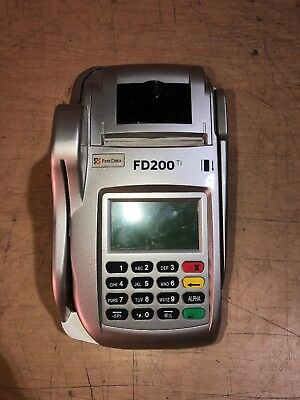 First Data Fd200 Ti Credit Card/check Reader