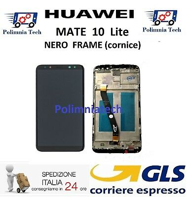 DISPLAY HUAWEI MATE 10 Lite NERO + FRAME (cornice) DISPLAY LCD TOUCH  - GLS 24h