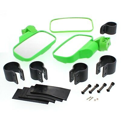 Green UTV Universal Side & Rear View Mirror Kit for Arctic Cat Wildcat 700 1000