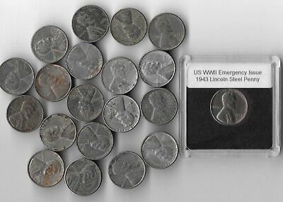 Rare Very Old WWII US Lincoln Steel 20 Coin Collection WW2 Invest War Money Lot
