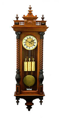 "52""H German Gustav Becker Grand Sonnerie 3 Weight Vienna Regulator Wall Clock"