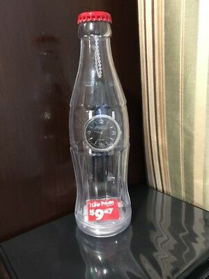 Coca-Cola Watch with Leather Band in a Plastic Bottle