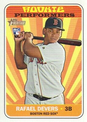 2018 Topps Heritage Rookie Performers #RP-RD Rafael Devers Boston Red Sox