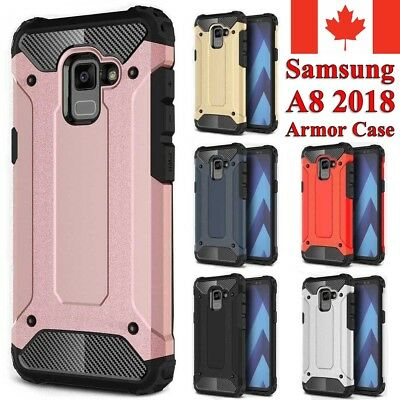 For Samsung Galaxy A8 2018 Case - Heavy Duty Dual Layer Shockproof Armor Cover