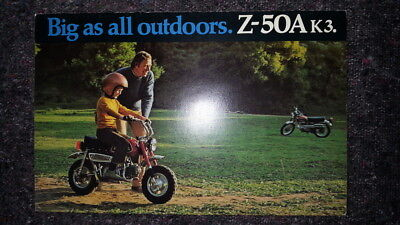 Honda MINI TRAIL MONKEY Z50 Z50M Z50A Z50Z Z50AK3 USA MODEL BROCHURE