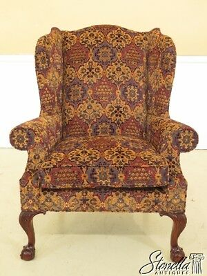 L29815EC: KINDEL Robb Collection Chippendale Mahogany Wing Chair