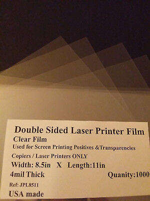 Clear Laser Printer Transparencies Qty: 1000