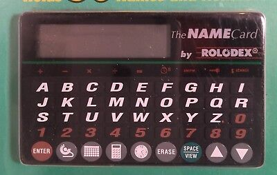 1992 Rolodex RNA-2 Name Card Electronic Address Book 50 Names Numbers PLS READ