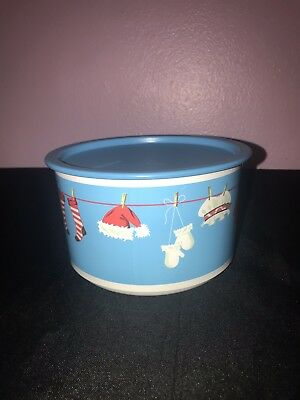Tupperware NEW Christmas Ornament Holiday Snack Round Cookie Container Canister