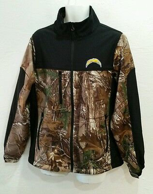 Men s NFL San Diego Chargers Soft Shell Jacket Size L Dunbrooke Realtree  Camo 970c17ffd